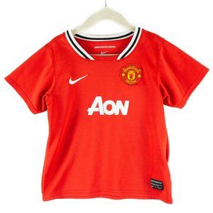 Manchester United Kids Red Nike Soccer Jersey